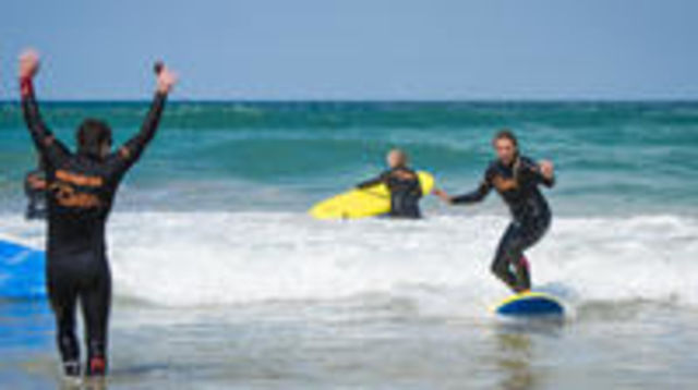 Photo of Group Surf Lesson at Fistral beach