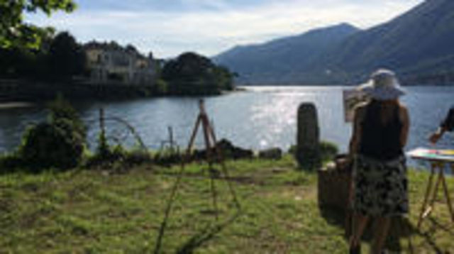 Photo of Plein-air Painting Experience on Lake Como and Wine Tasting