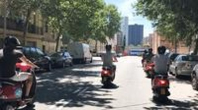 Photo of Barcelona City Montjuic Tour by Vespa Scooter