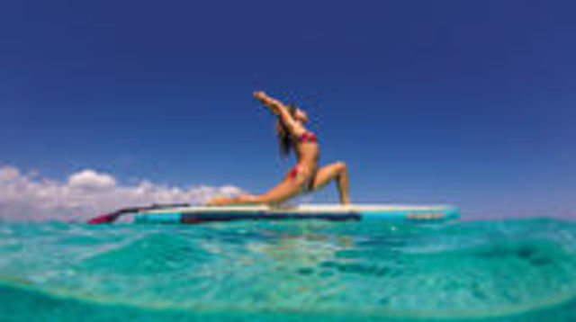Photo of 1-hour Paddle Yoga & Pilates in Las Canteras Beach